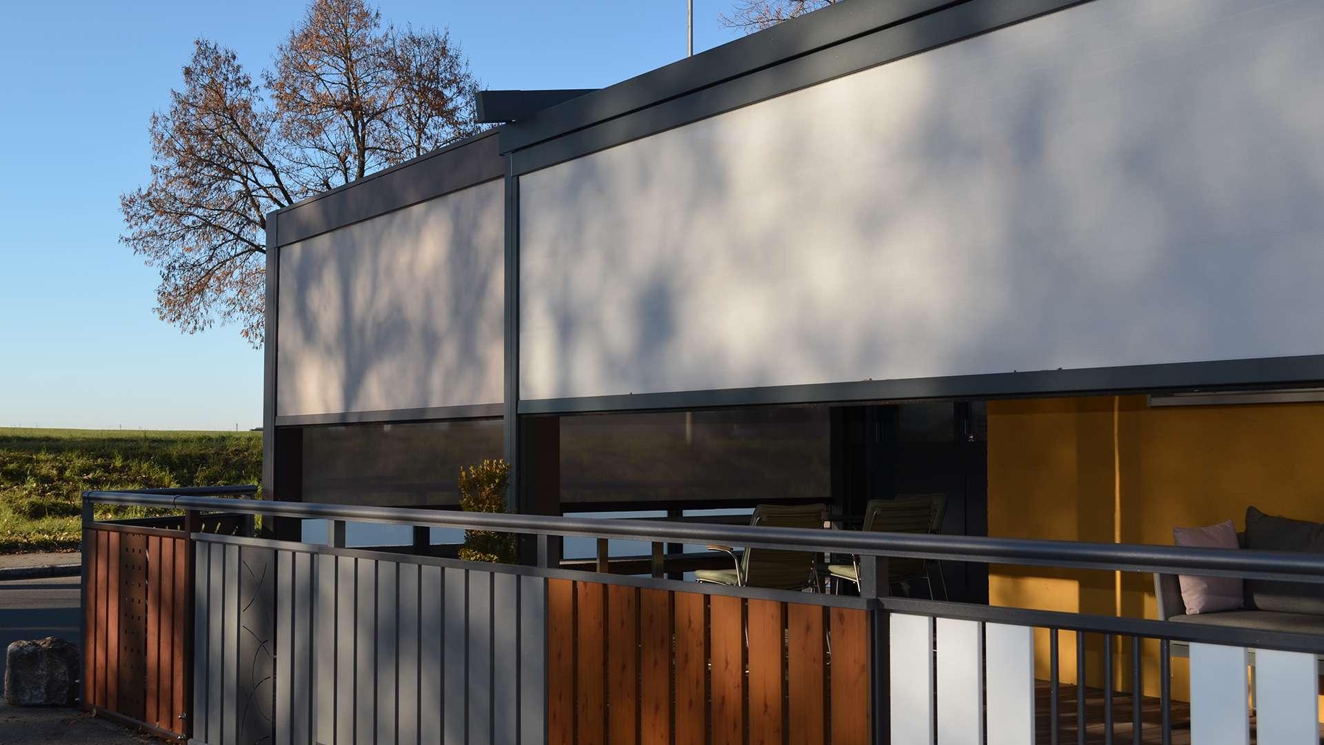 Außenansicht der Ausstellung von Allgäuer Wintergärten in Leutkirch im Allgäu