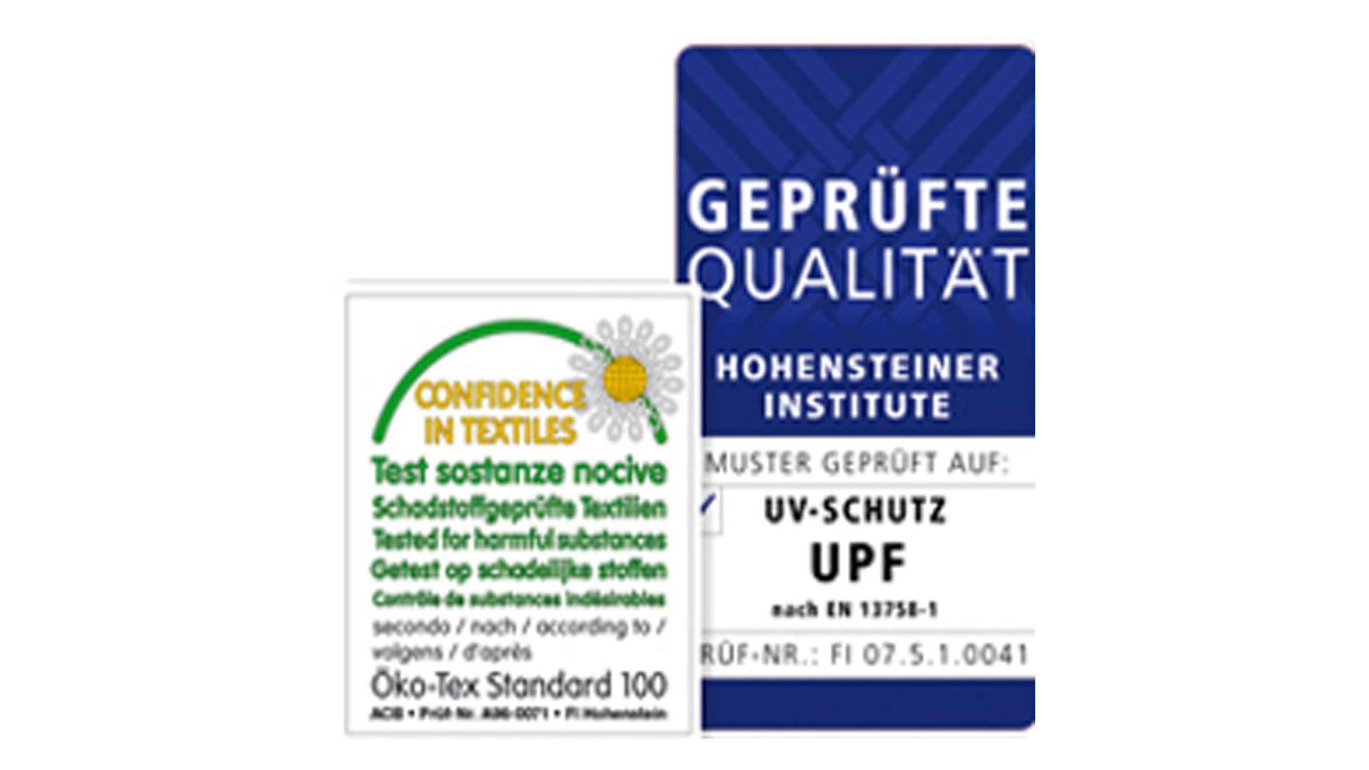 UV-Schutz Qualitäts-Siegel