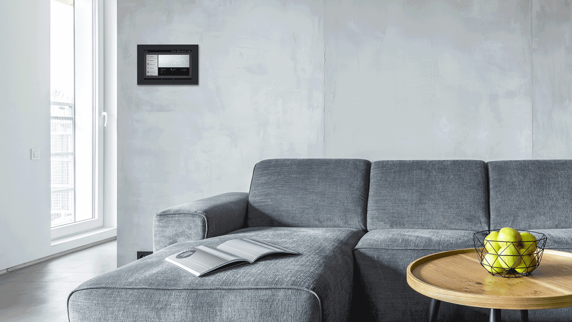 Wohnzimmer mit WS1000 Connect Steuereinheit