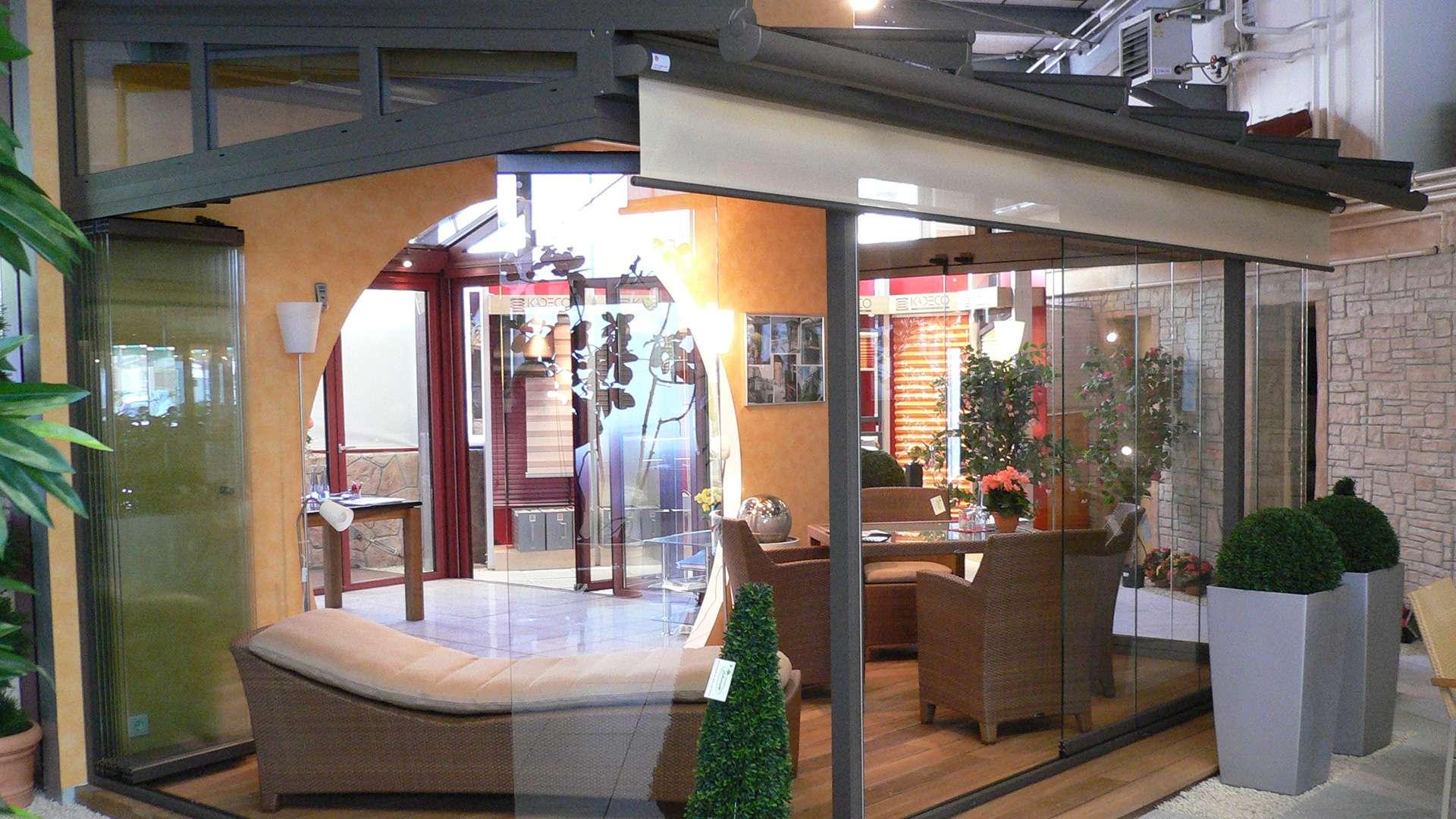Glashaus in der Ausstellung von Boller in Binzen