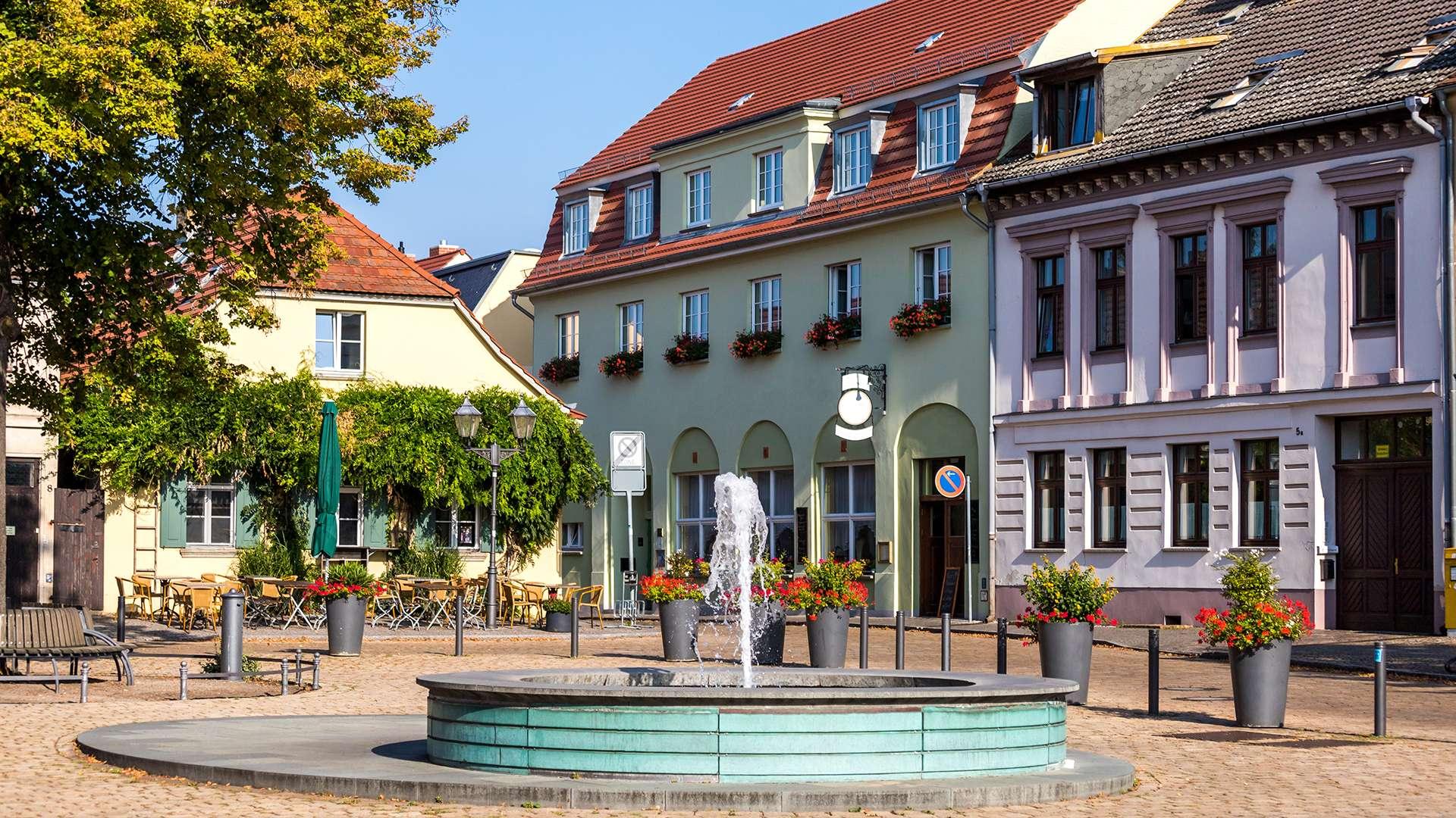 Brunnen in der Innenstadt von Brandenburg an der Havel