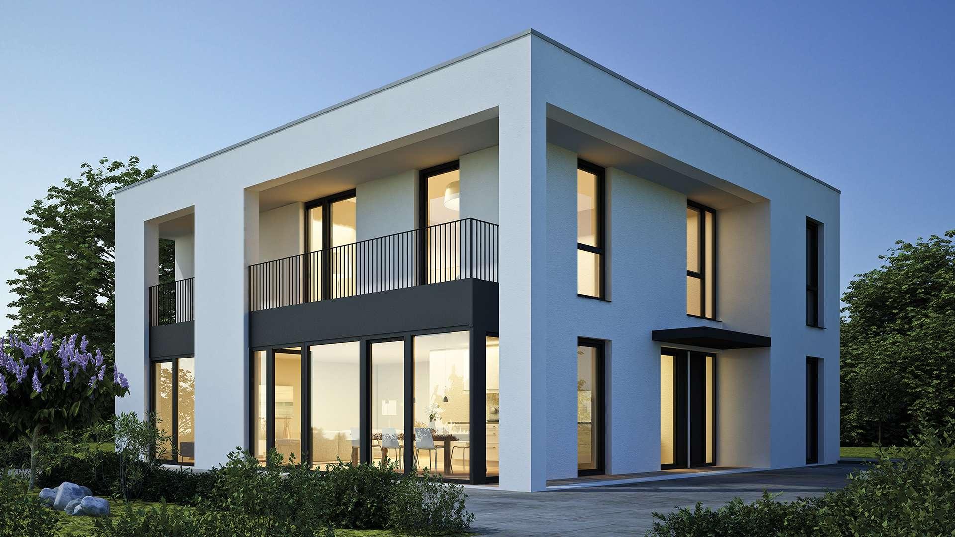 modernes Haus mit vielen Gayko-Fenstern