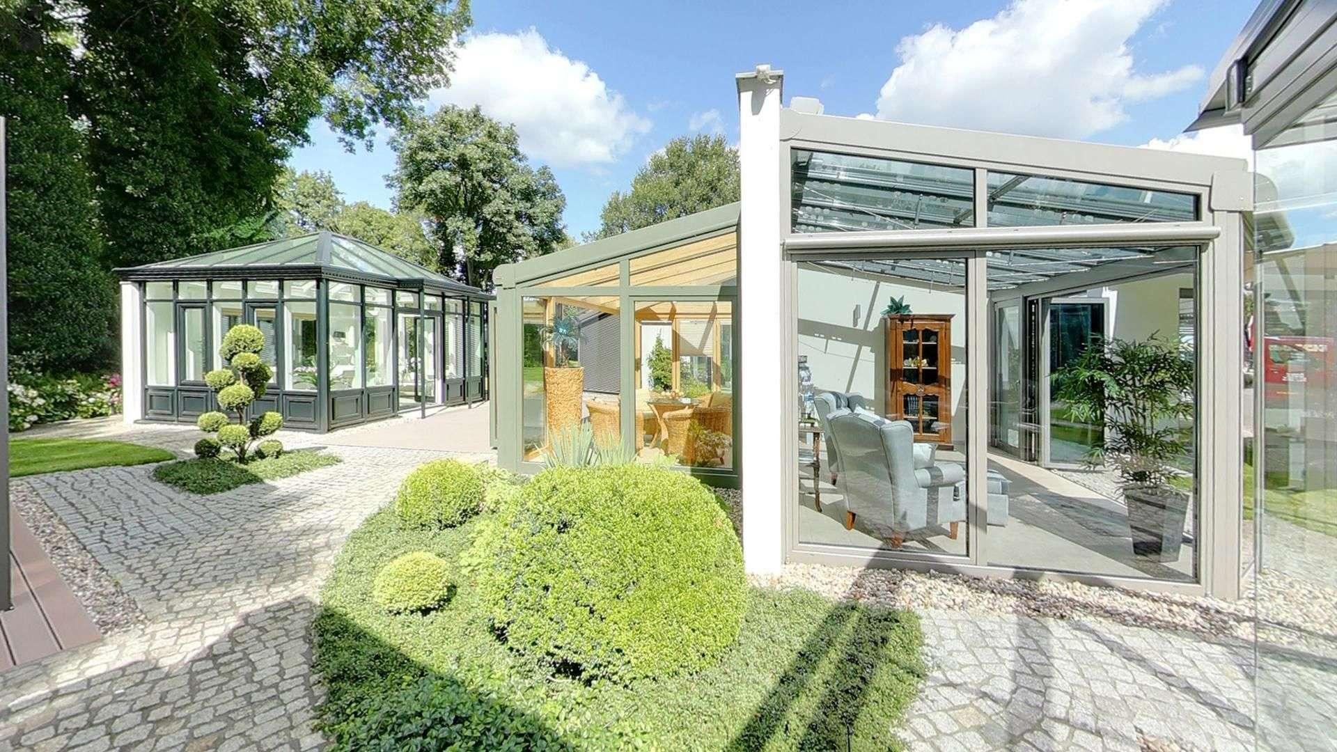 drei Wintergärten in der Ausstellung von Dürbusch