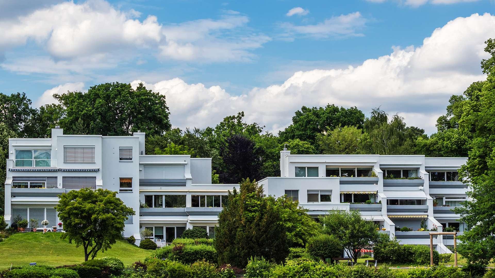 moderne Häuser am Wannsee