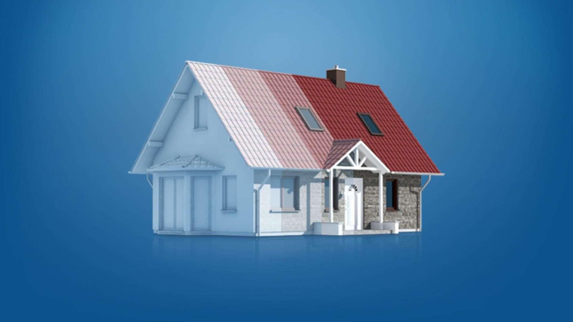 Online-Visualisierung eines Einfamilienhauses