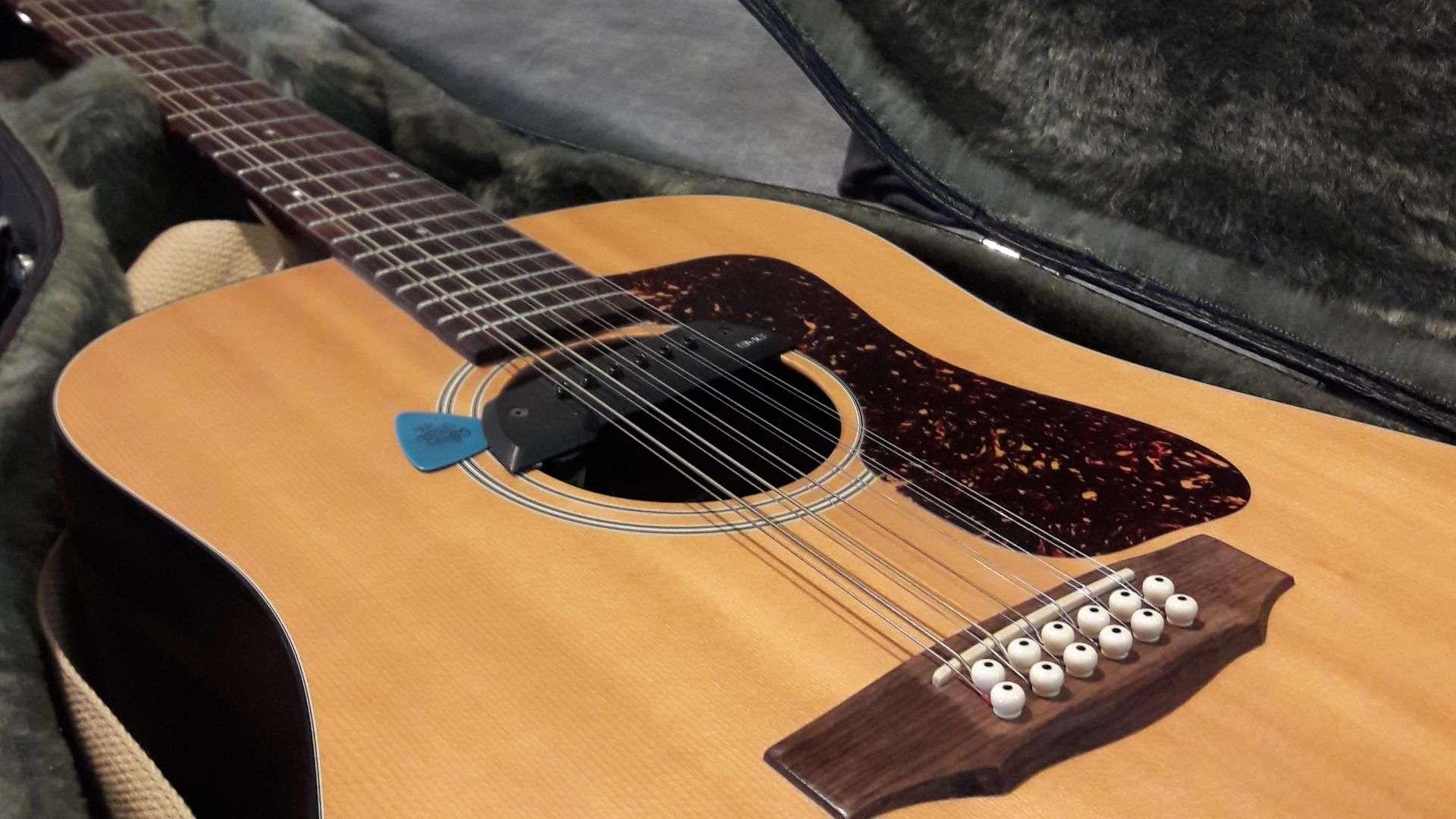 Nahansicht einer Gitarre