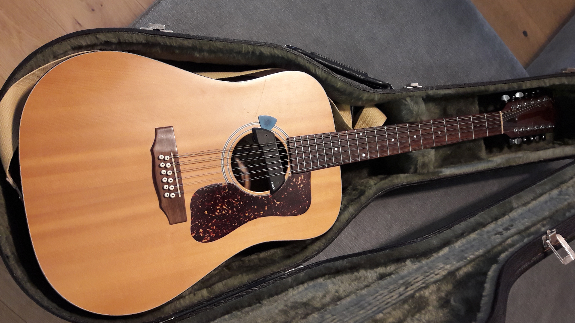 Gitarre in einem Koffer