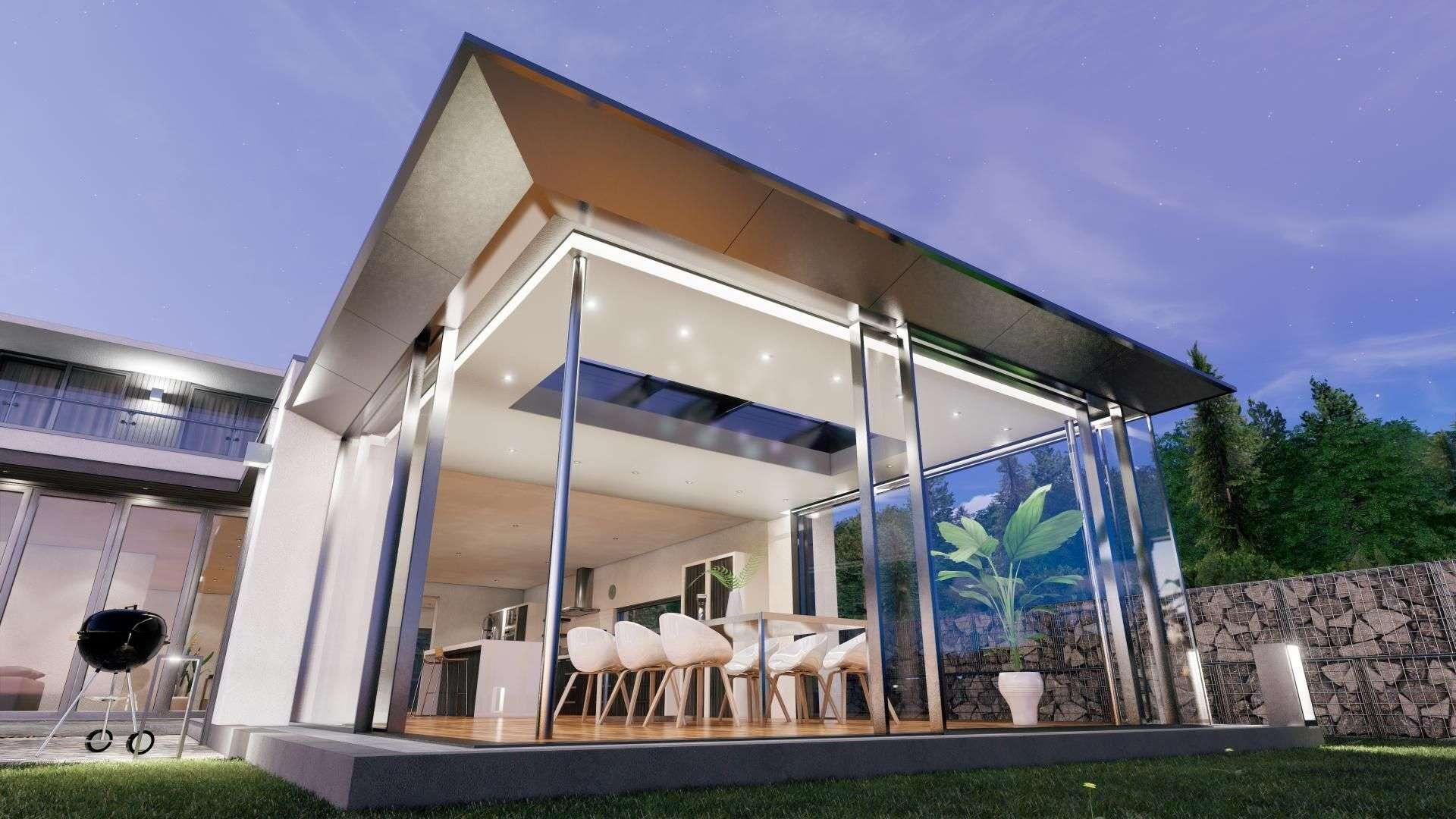 SDL Acubis Flachdach an einem Wohnhaus