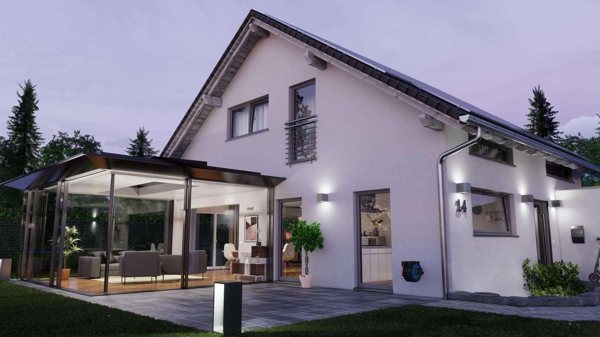 SDL Avalis Flachdach auf der Terrasse eines Wohnhauses