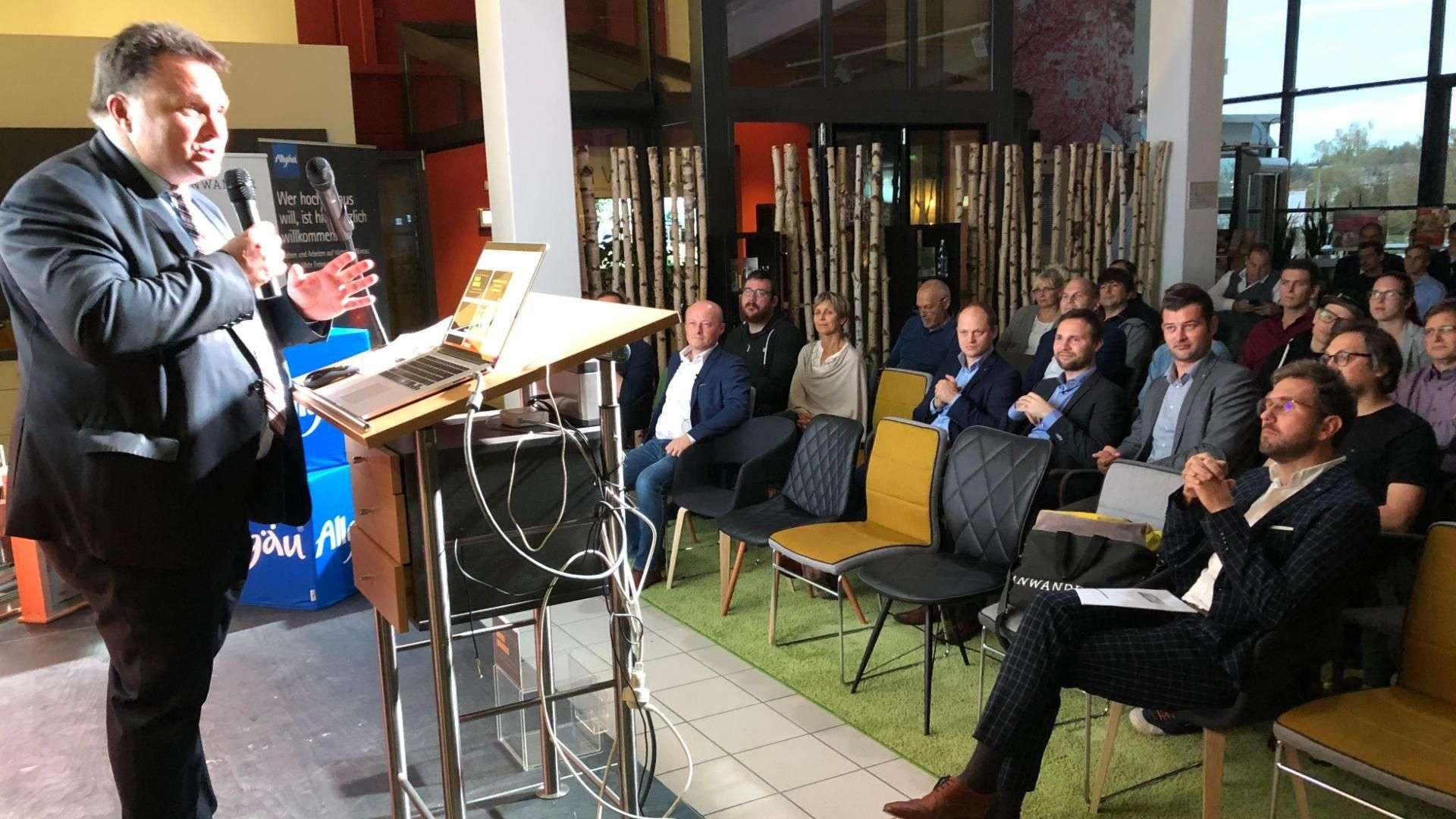 Vortrag beim Unternehmerabend bei Linara in Kaufbeuren