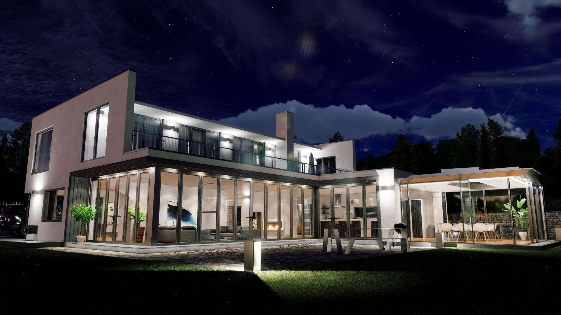 VR Visualisierung eines Neubaus mit Fensterfronten