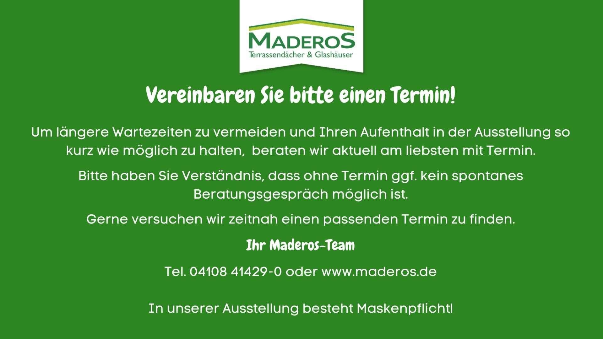 MADEROS Corona Information