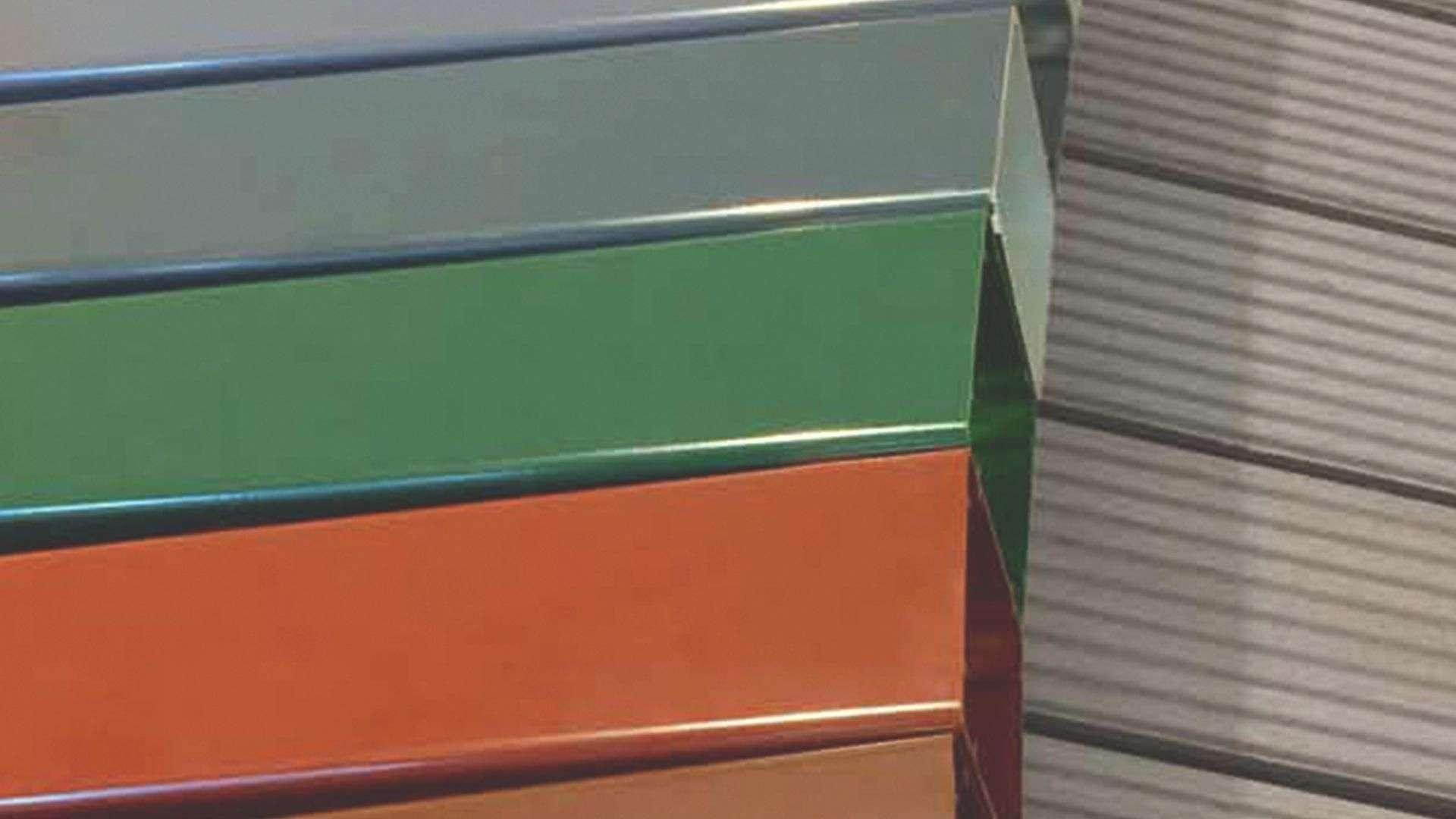 Farbmuster von Terrassendächern