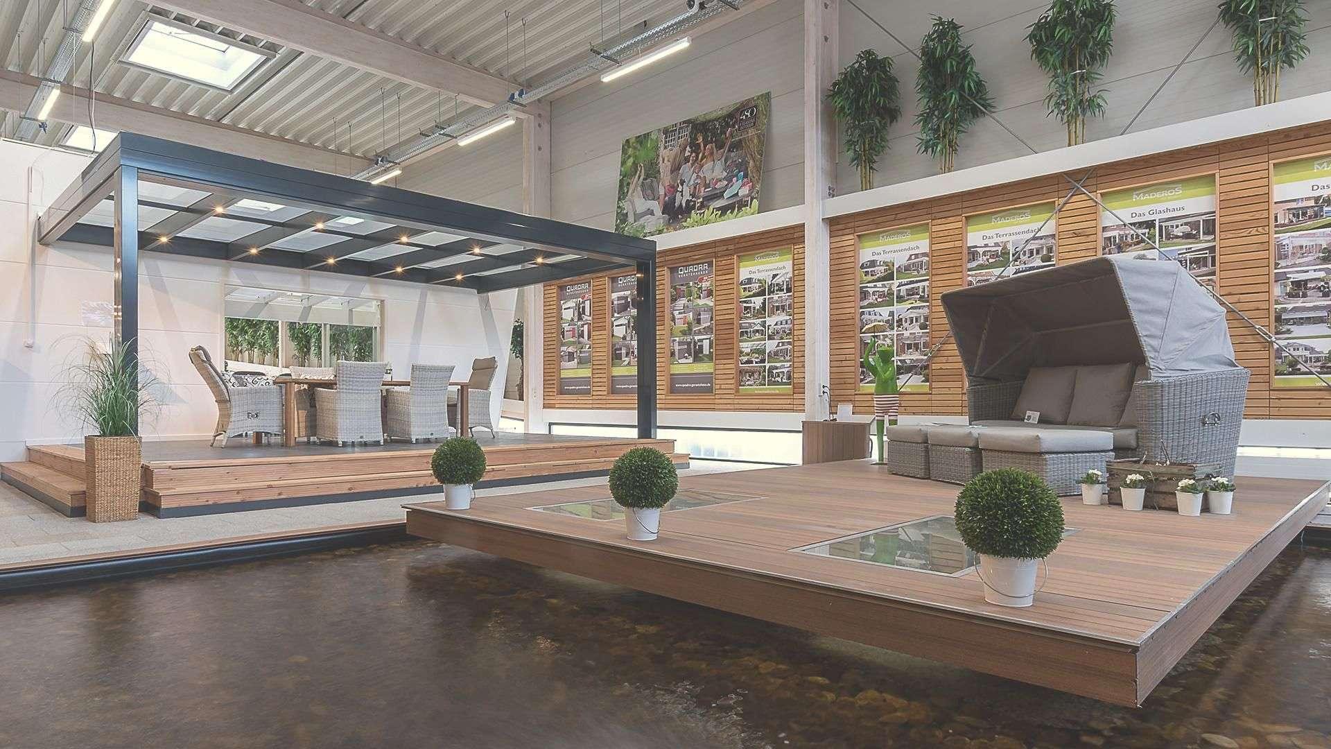 Cubus-Dach in der  Ausstellung von Maderos in Rosengarten/Nenndorf