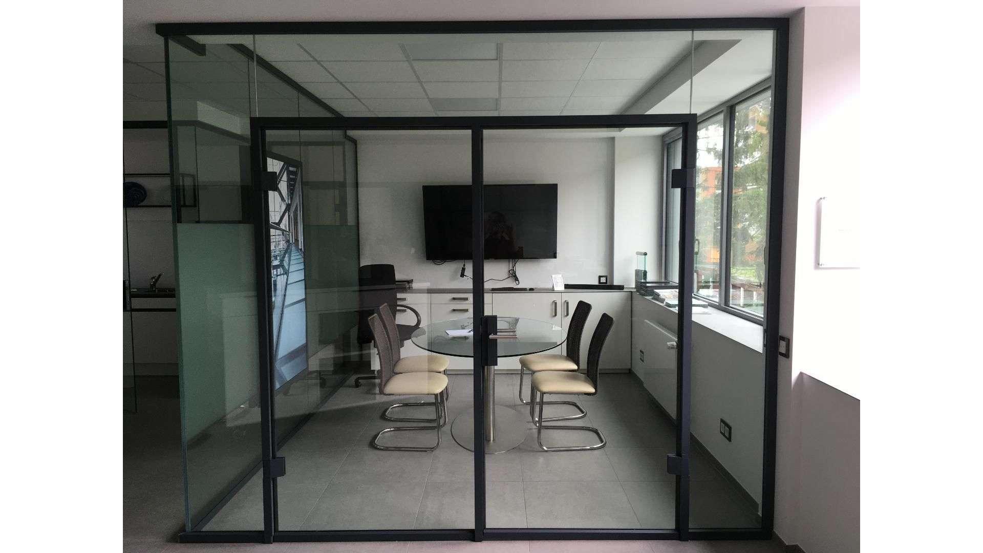 Konferenzraum in der Ausstellung von Menke-Glas in Bielefeld