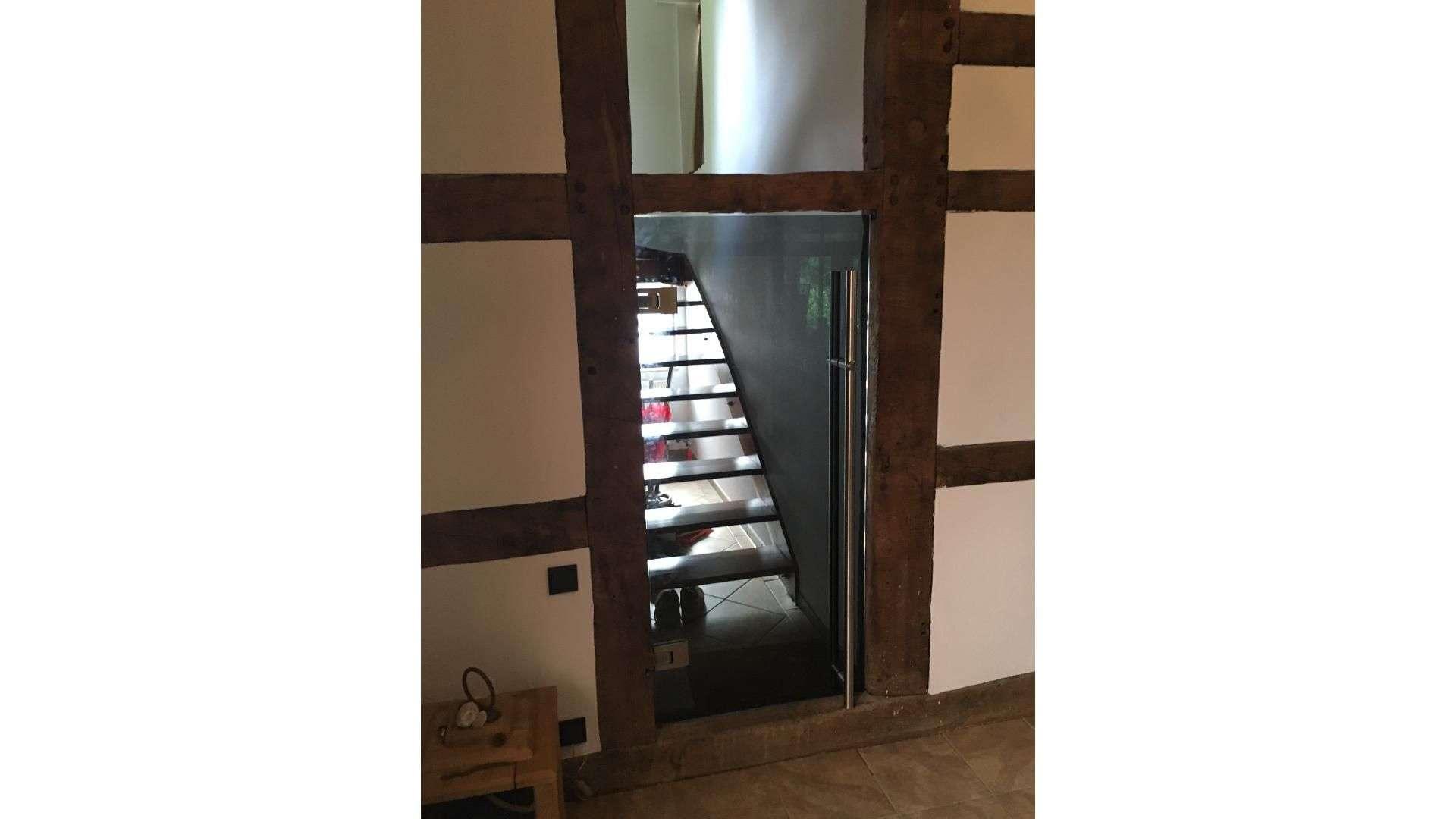 Treppe in einem Fachwerkhaus
