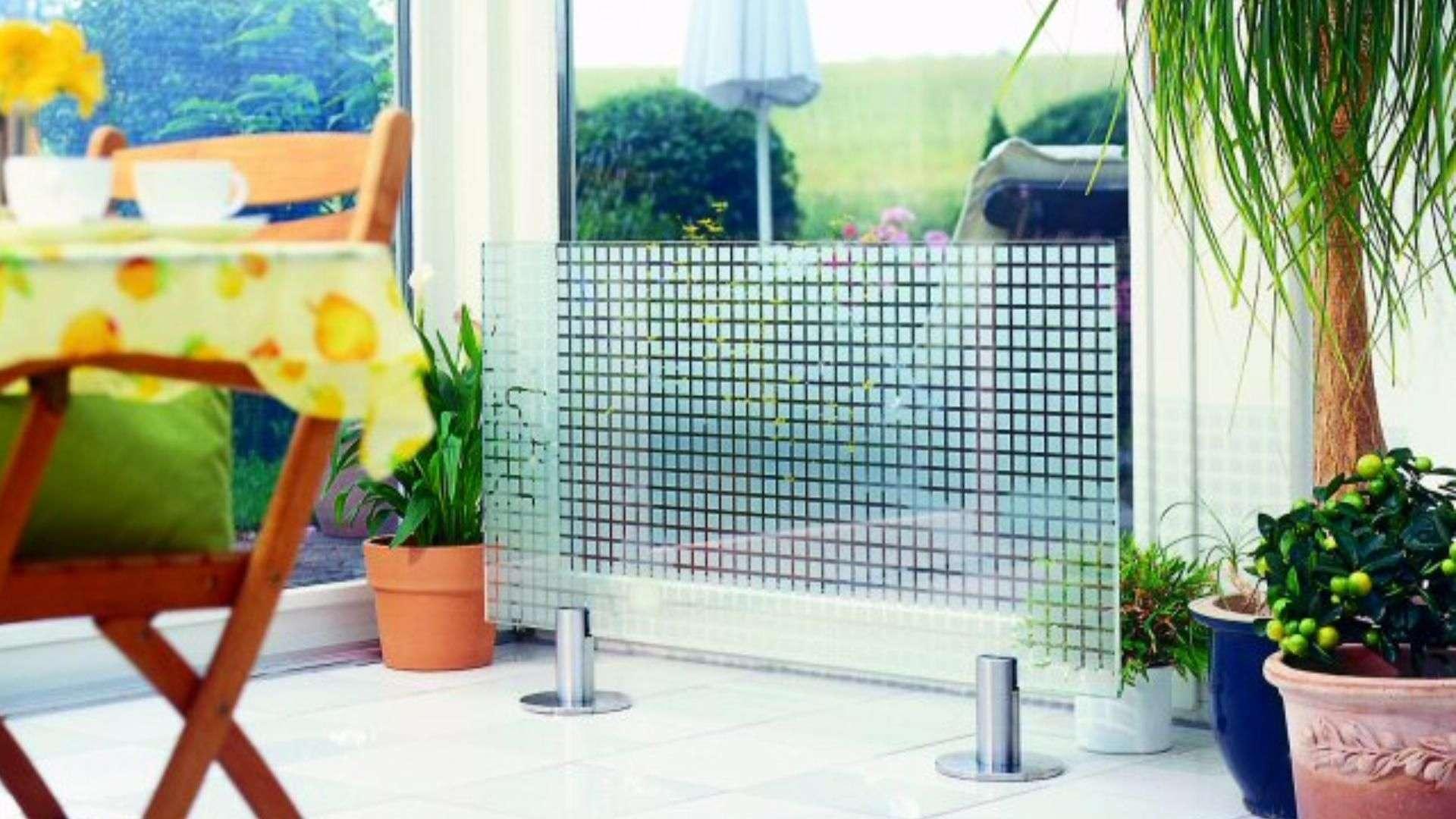 Glasheizung in einem Esszimmer