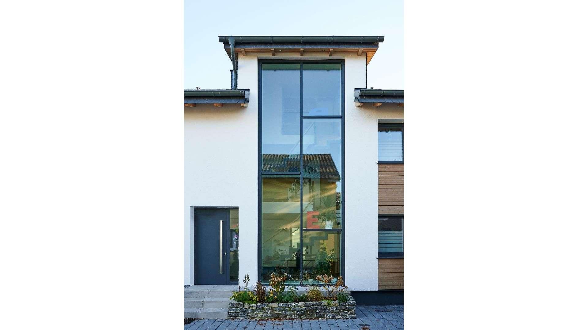 Glasbau in einem Wohnhaus