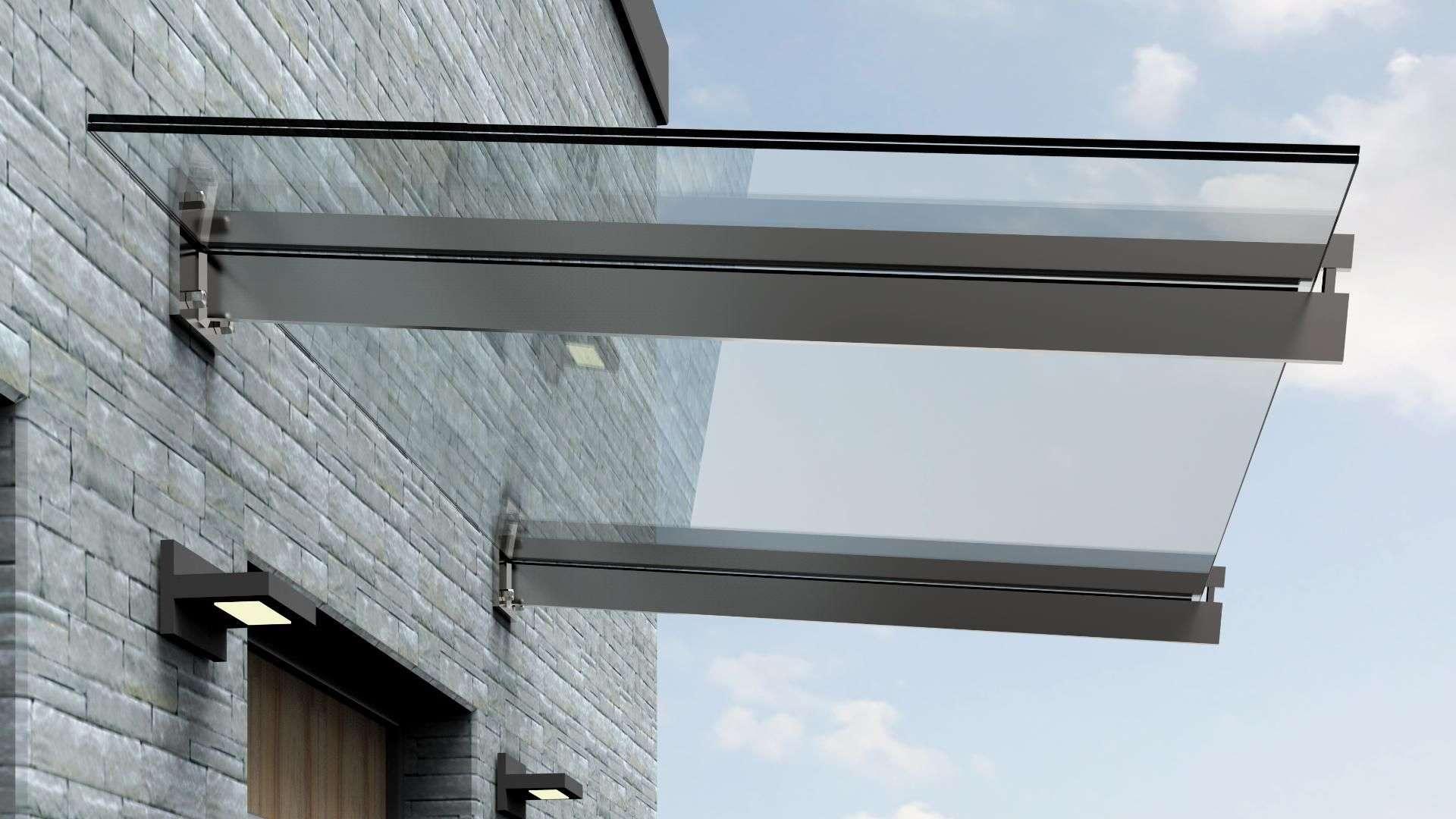 Vordach Typ S 04 aus Glas