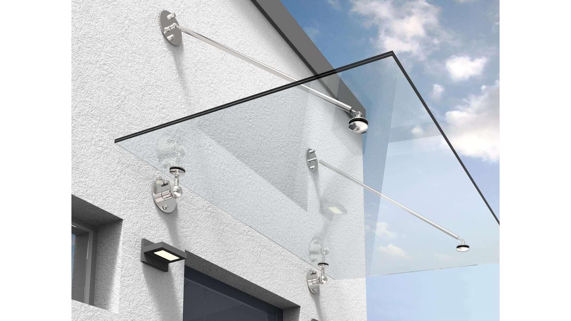 Vordach Typ Z 03 aus Glas