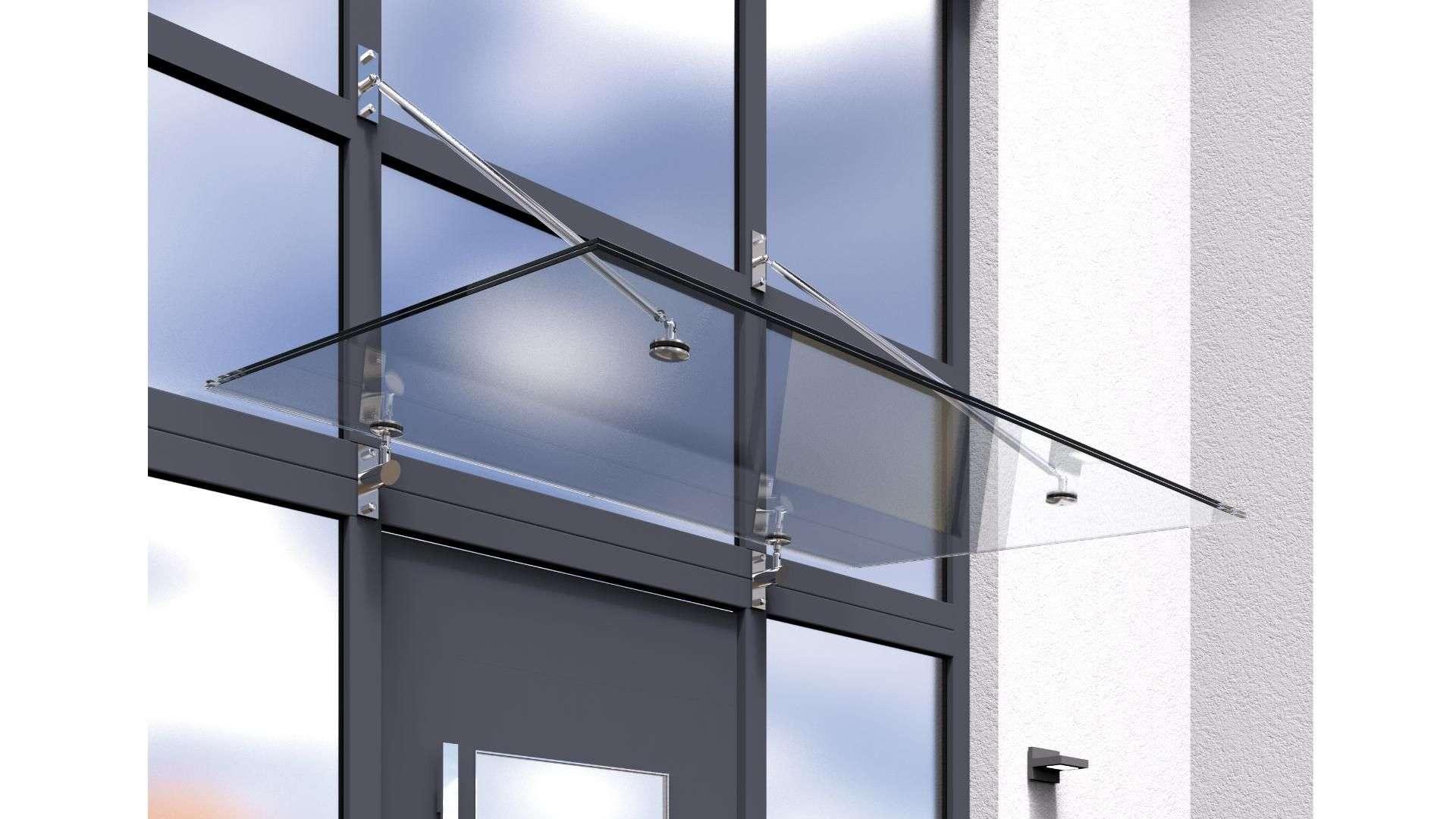 Vordach Typ Z 05 aus Glas