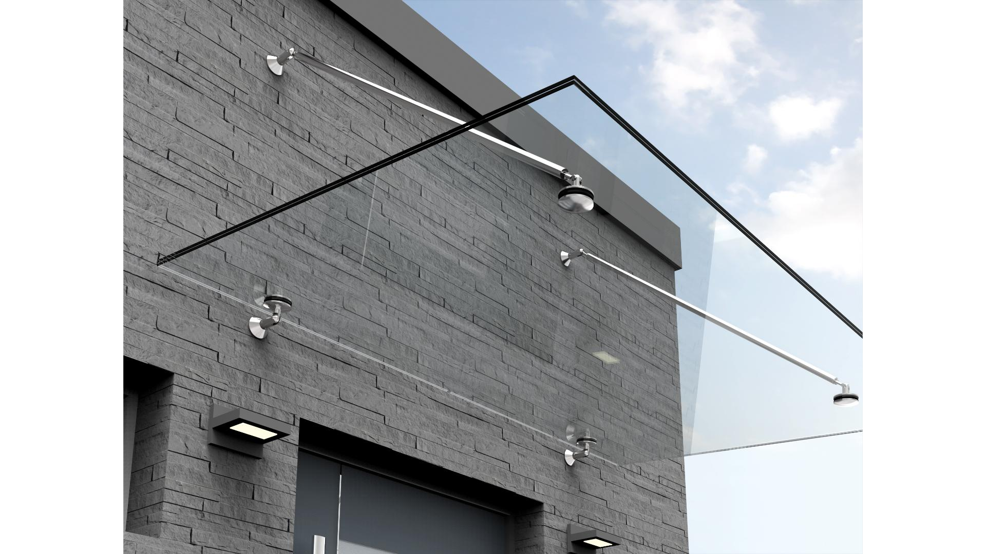 Vordach Typ Z 06 aus Glas