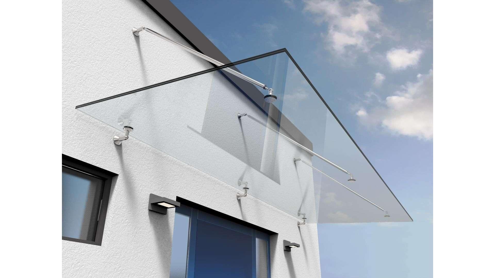 Vordach Typ Z 09 auf Glas