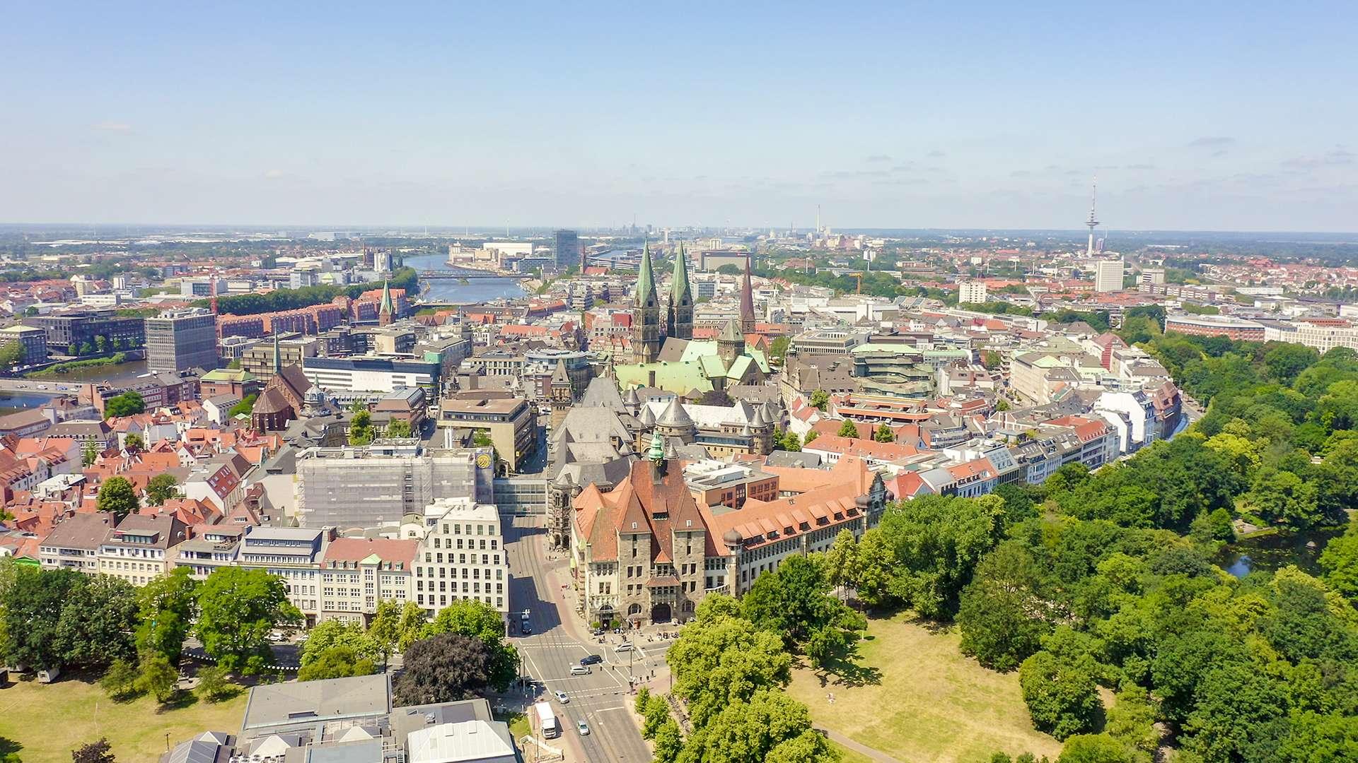 Luftbildnaufnahme von Bremen