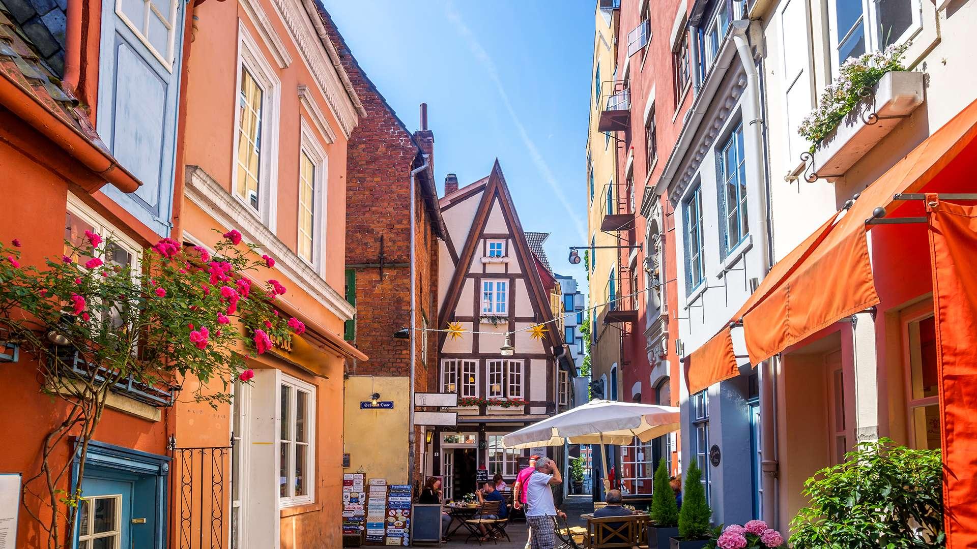 Blick in eine Gasse von Bremen