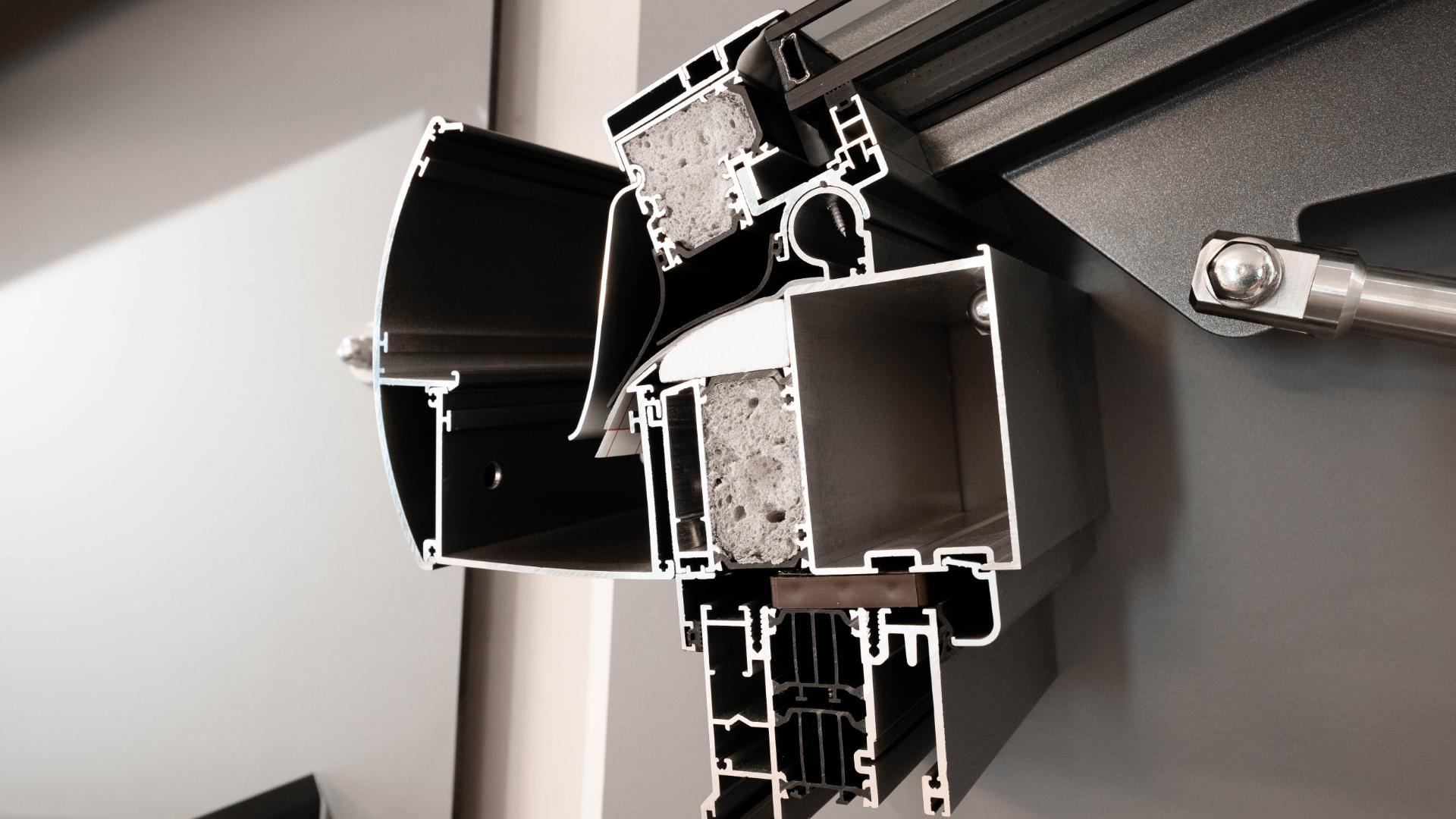 Dachsystem in der Ausstellung von Schirrle in Nürnberg