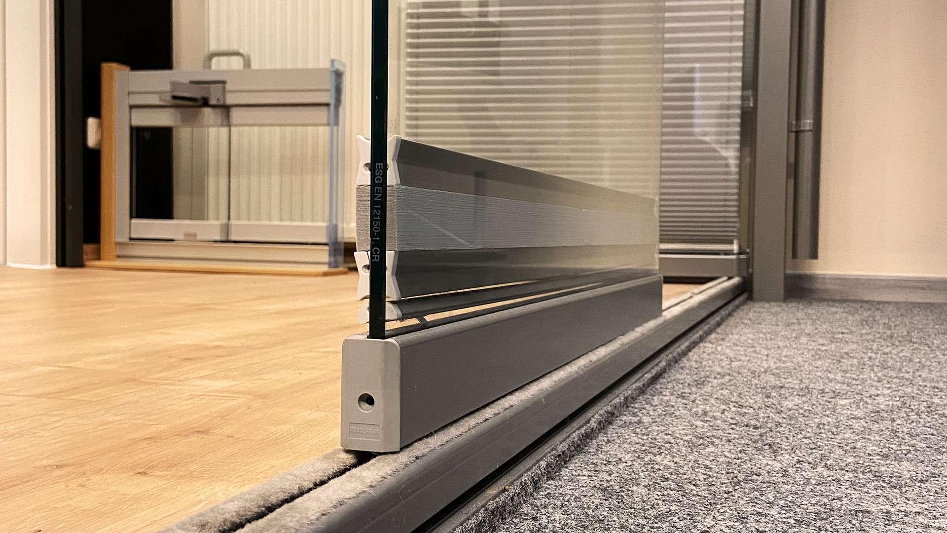 Nahansicht eines Schiebesystems in der Ausstellung von Schirrle in Nürnberg