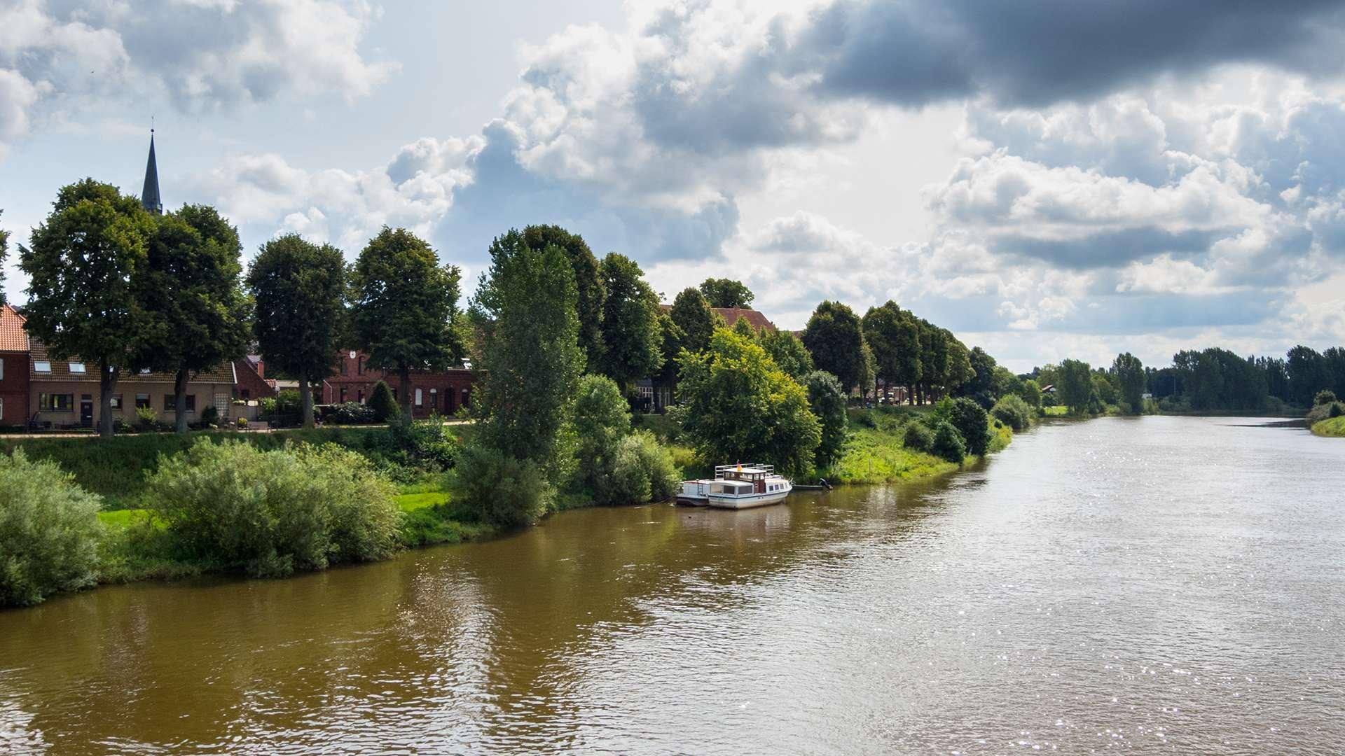 Nienburg an der Weser im Sommer