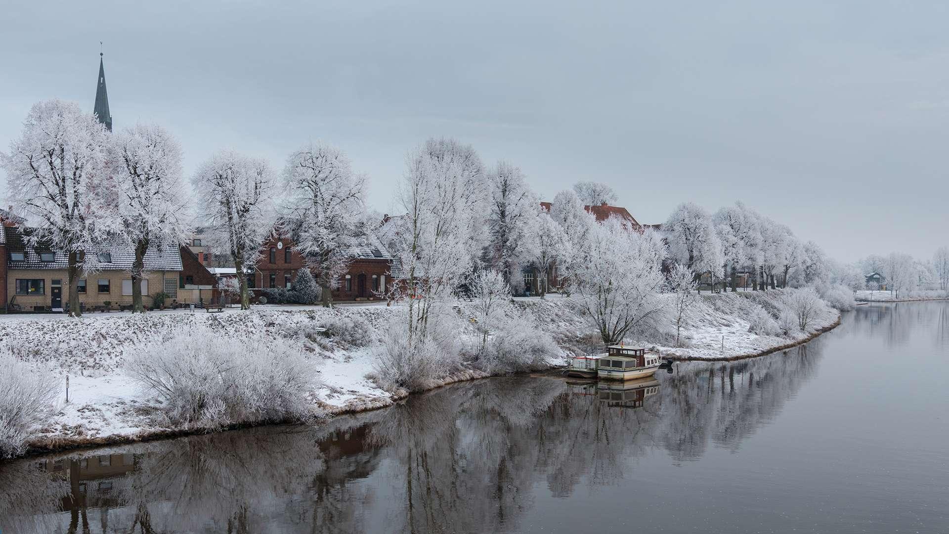 Nienburg an der Weser im Winter