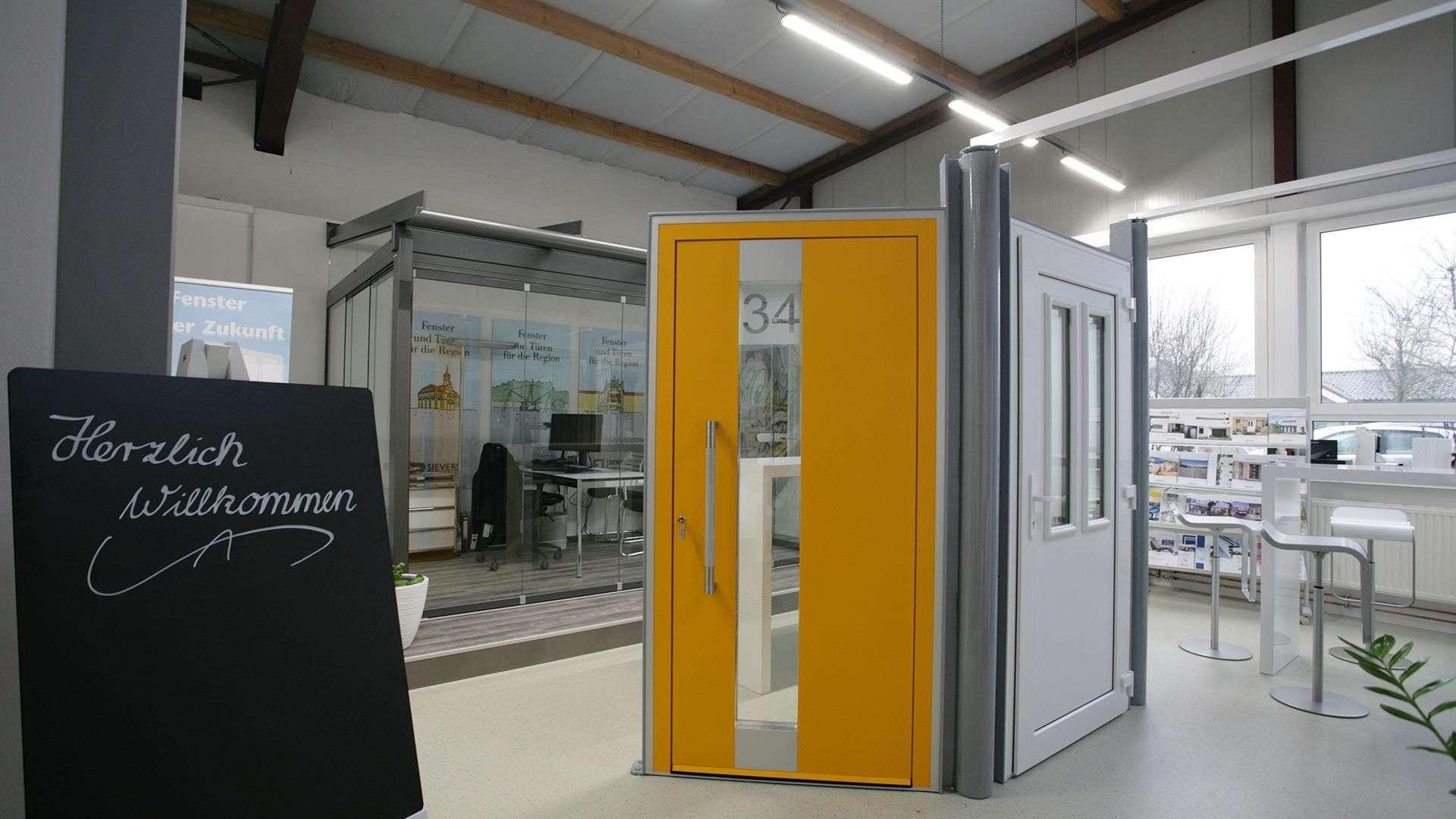 Haustüren-Studio in der Ausstellung von Sievers in Haßbergen