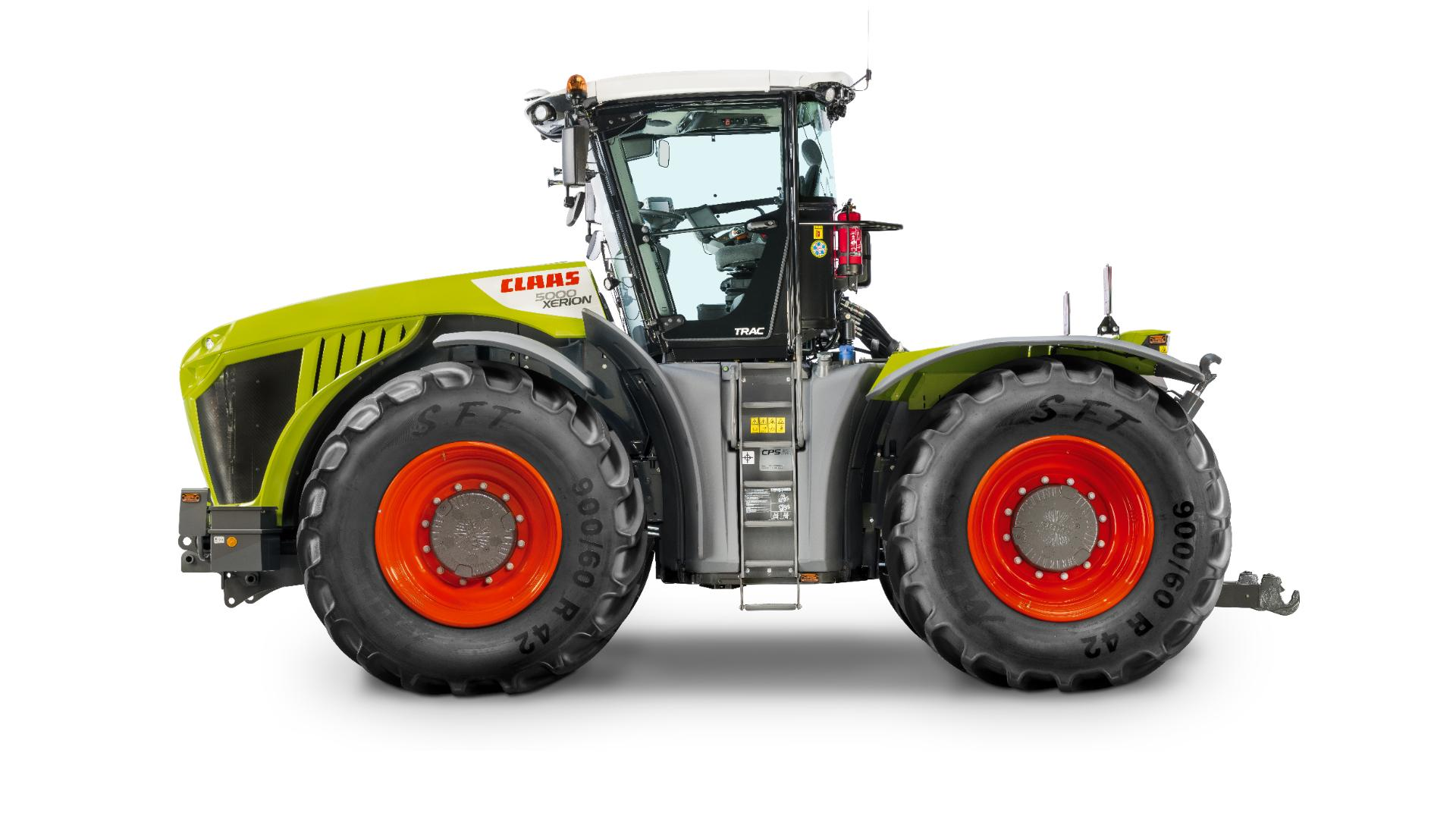a CLAAS tractor
